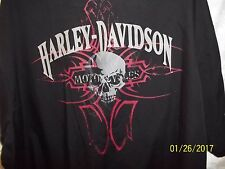 Harley Davidson Motorcycle Men's 3XL BLACK SKULL  S/S BUTTON UP SHIRT MUST SEE!
