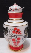 RUSSIA LFZ Lomonosov PORCELAIN Decanter ROWAN BERRIES Made in USSR 1960s Vodka