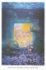Corn Pops Cereal: Aquarium Diver Piranha: Great Original Kellogg Print Ad!
