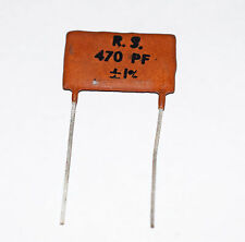 SILVER MICA CAPACITOR 470pF 1% - VINTAGE RS COMPONENTS - MARSHALL ETC