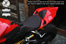 GRIP VINYL RED DIAMOND ST CUSTOM FITS DUCATI 899 1199 FRONT COMFORT SEAT COVER