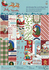 Papermania 48 pk Christmas Decoupage & scrapbooking paper A4 160gm Jolly Santa