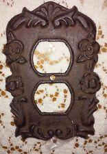 CAST IRON FANCY FLOWER ELECTRIC DOUBLE SOCKET PLATE