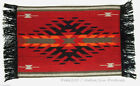 Woven Placemat Table Mat Native American / Southwestern Fringed Design #2C