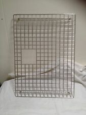 Stainless steel rack for bottom of laundry trough or sink, mesh