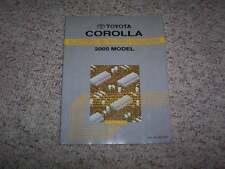 2000 Toyota Corolla Electrical Wiring Diagram Manual VE CE LE 1.8L 4Cyl