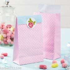 New wedding vintage rose shabby chic afternoon tea party 5 pink paper sweet bags