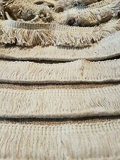 natural cotton cushion and textile fringe trimming