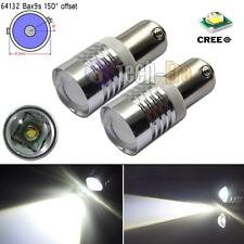 2pcs Xenon White BAX9S H6W 433C 434 150° High Power CREE LED Car Bulbs Lights