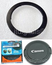 Filter Adapter As FA-DC67A + UV + Lens Cap Canon SX10 IS SX10IS Camera U&S Metal