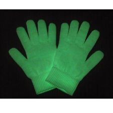Glow In The Dark Gloves Stretchable Outside Fun Novelty Glove Set Pair Cool Gift