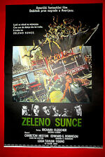 SOYLENT GREEN 1973 CHARLTON HESTON RICHARD FLEISCHER UNIQUE EXYU MOVIE POSTER