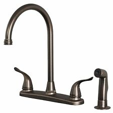 Builders Shoppe 1210BZ Two Handle Kitchen Faucet w/Spray Brushed Bronze Finish