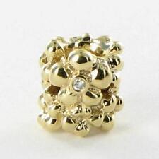 Pandora 750344D Bead Charm Diamond Daisy 0.02ct 14k Yellow Gold RETIRED New $600