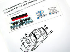 STAR WARS ATAT POTF 2 REPLACEMENT STICKERS for 97 IMPERIAL AT-AT WALKER +BONUS