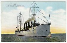 USS SALEM PC Postcard NAVY Naval Military USN War SHIP Boat CL-3 Scout Cruiser