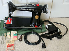 SINGER SEWING MACHINE 101-3 1929 PROF SVCD EXC COND. HEAVY DUTY POTTED MOTOR