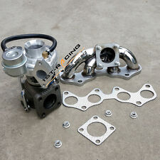 Upgraded CT9 Turbo + SS Exhaust Manifold for Starlet EP82 EP85 EP91 4EFE 2JZ-GTE