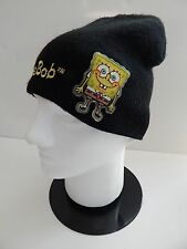 Sponge Bob Knit Cap Black Embroidered Hat Cap Beanie Childrens Kids Nickelodeon