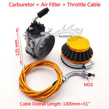 Racing Carburetor Air Filter Throttle Cable For 50 80 cc Gas Motorized Push Bike