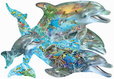 Song of the Dolphins 1000 Piece Shaped Jigsaw Puzzle by SunsOut