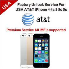 Premium Factory Unlock Service AT&T iPhone 3, 3GS, 4, 4s, 5, 5c, 5s 6, 6s, 6s p