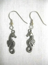 NEW 3D DOUBLE SIDED FUN DETAILED OCEAN REEF SEA HORSE CHARMS DANGLING EARRINGS