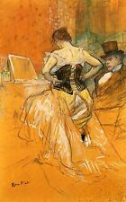 Elles: Woman in a Corset Toulouse Lautrec Canvas or Fine Art Print POSTER New