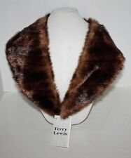 Terry Lewis Brown Faux Fur Attachable Collar - Size 18Z/A -  NWT
