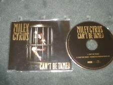 MILEY CYRUS-CAN'T BE TAMED-RARE 2 TRACK CD SINGLE/HANNAH MONTANA/POP