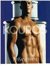 PUBLICITE 2000    YVES SAINT LAURENT  KOUROS   boutique parfums
