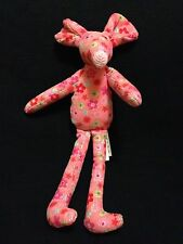 Jellycat Cordy Mouse Pink Flower Small Jelly Cat London UK Plush Roses 2010 7""