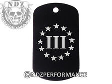Dog Tag Military ID K9 Customized Laser Engraved BLK 3 Percenter US 4