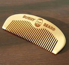 BUSHY BEARD - Moustache - Wooden Hair Comb Mens Grooming Birthday Present Gents