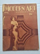 Vintage 1920s Modern Art Magazine w/ Deco Style Nude Female Art Images