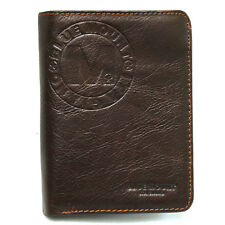 New Brown Men's Leather Wallet Full Zippered Pocket Purse 2 ID Window-MJ3072