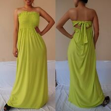 NWT Sexy Women Lime Strapless Summer Maxi Dress Casual Cocktail Party Sz XL