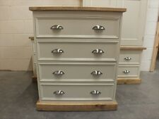 RUTLAND PAINTED 4 DRAWER CHEST HAND MADE ROUGH SAWN BESPOKE COLOUR SIZES