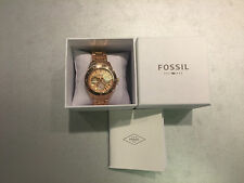 Neu Fossil Damen Uhr Metal Rose Gold ES2859 Women Watch Metal mit Garantie ausAT