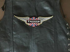 Triumph patch union backpatch xxl 26,5x8,3cm Blouson MC BIKER Angleterre vintage NEUF