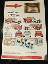 DECALS 1/43 FORD ESCORT WRC COSWORTH KANKKUNEN RALLYE SAN REMO ITALIA 1997 RALLY