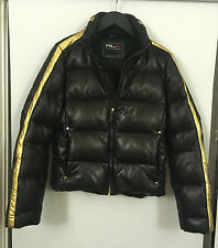RLX RALPH LAUREN LEATHER DOWN  SPORTS QUILTED PUFFER PUFFA JACKET COAT RRP £1800
