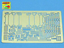 ABER 1/35 PE PHOTO-ETCHED TOOL BOX & HAND TOOLS for DIORAMAS ETC #35A68
