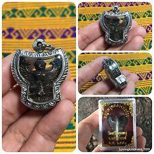 Beautiful Krut Garuda Bird Lp Joy Thai Buddha Amulet Luck Rich Wealth Protect