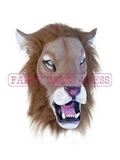 NEW LATEX LION MASK TV FILM LION KING FANCY DRESS ANIMAL FUN DISNEY MENS WOMENS