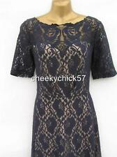 BNWT Monsoon Navy Lace Cocktail Dress - Size 12 Wedding Races Christening Party