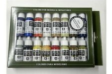 VALLEJO 16 COLOUR PAINT SET VAL70147  Model Color Set  American Colonial