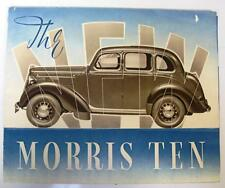 "MORRIS TEN FOUR SERIES ""M"" FIXED & SLIDING HEAD SALOON - Car Brochure - Aug 1938"