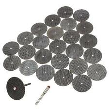 25PCS 32mm Resin Cutting Wheel Discs Set Kit + 1 Mandrel For Dremel Rotary Tool