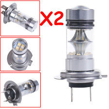 2pcs H7 6000K 100W LED HID White 20-SMD Projector Fog Driving DRL Light Bulbs HS